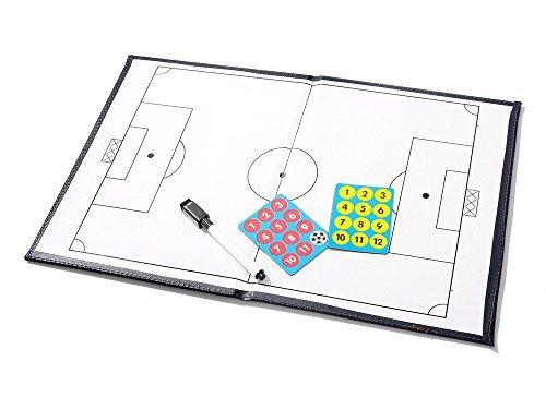 PhantomSky Klassisch Fußball Taktiktafel Taktikmappe Coachboard für die Spielanalyse oder Schulung mit Magnete, Stifte und Radiergummi (Größe: 44cm x 32cm)