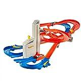 Hot Wheels FXN21 - Auto Lift Expressway Track Set mit batteriebetriebenen Looping, Spielzeug ab 5 Jahren