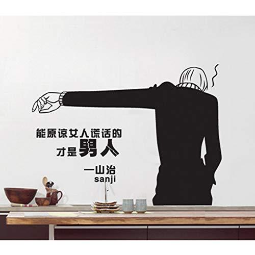 Wandaufkleber Home Outfit Wandaufkleber Anime Wall Stick Tv Wandverzierung Wand Der Hintergrund Des Kopfes Eines Bettes Schlafzimmer 80X58Cm