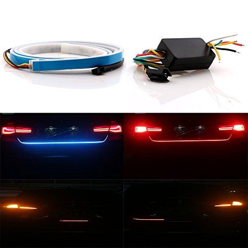 grandview 1set hellblaue + red 150CM auto styling dynamische wimpel bremse blinker schwanz kofferraum licht führte warnblinker allen ungeschützten verkehrsteilnehmern dc 12v