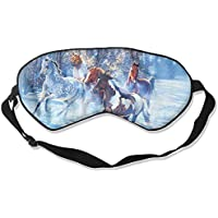 Running Horses In Snow Sleep Eyes Masks - Comfortable Sleeping Mask Eye Cover For Travelling Night Noon Nap Mediation... preisvergleich bei billige-tabletten.eu