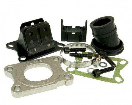 Pipe d'admission MALOSSI MHR Viton 21mm - APRILIA RS4 50 2T LC euro 2 (DERBI)