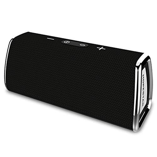 WYGC Speakers Bluetooth Lautsprecher Tragbar IPX6 Kabellos Subwoofer Power Bank Heimkino Mit TF-USB-Karte für Outdoor und Reisen (Farbe : Schwarz)