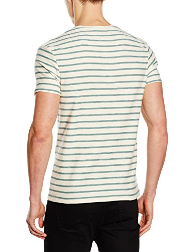 SELECTED HOMME Herren T-Shirt Shhkris Stripe SS O-Neck Tee NOOS Mehrfarbig (sea Pine Stripes:marshmallow)