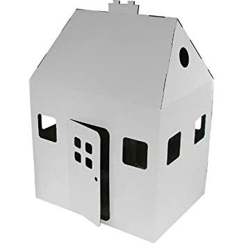 Kid-Eco House, Cardboard, White
