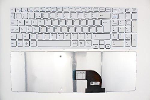 Sony Vaio SVE15, SVE151D1EW, SVE151D11L, SVE151D11M, UK-Tastatur, weißer Rahmen, F110