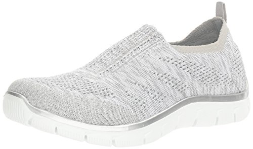 Skechers Damen Slipper Empire Round Up Grau/Silber, Schuhgröße:EUR 39