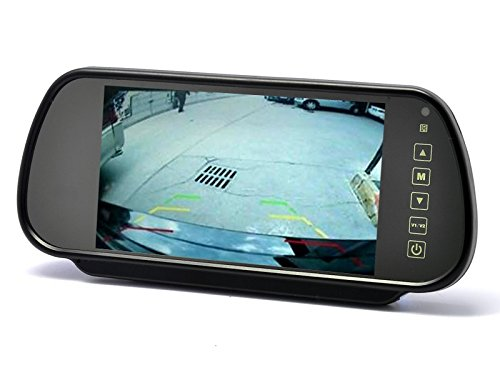 17,8 cm 7 Zoll inch Video TFT LCD Monitor Rückspiegel Innenspiegel Spiegel für Rückfahrkamera Rückfahrsystem Auto KFZ PKW Transporter Wohnmobil 12V mit zwei Videoeingängen LCM-SP7Touch