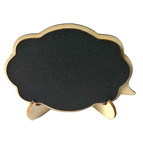 Kineca 1pcs Mini Tafel aus Holz Wolke Form Brett Hochzeit Tischdeko Nachricht Hinweis Kleine Tafel (Lebensmittel-etiketten Für Die Partei)