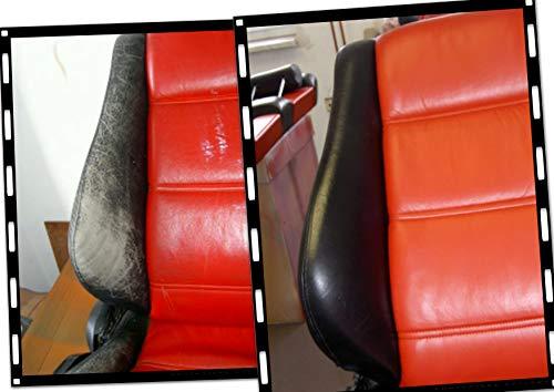 Lederfarbe & Flüssigleder schwarz für BMW Mercedes Porsche Volvo Lenkrad VW F034 Kratzer Risse reparieren Sitze auffrischen Kunstleder Vinyl Rissreparatur Leather smart Repair Autositze Couch - Sitz Reparatur Leder