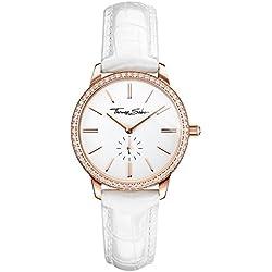 "Thomas Sabo Watches, Damenuhr ""GLAM SPIRIT"", Edelstahl; Leder, WA0251-215-202"