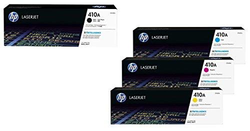 HP Original 410A Toner 4er Set schwarz, Cyan, Magenta, gelb(CF410A, CF411A, CF413A, CF412A) -