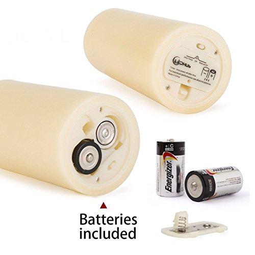 Hub sin llama velas LED con mecha cónica: funciona con pilas, con mando a distancia y temporizador 12,5 cm