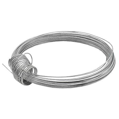 Christoph Palme Leuchten Eisendraht 1,0 mm verzinkt 24m gebunden, auch Basteldraht Flechtdraht Spanndraht Bindedraht Stahldraht Deko-Draht genannt