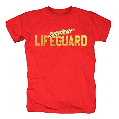 TSP Baywatch Lifequard T-Shirt Herren S Rot