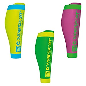 Compressport R2 v2 Calf Fluo Sleeves Wadenschutz Kompression Stulpen
