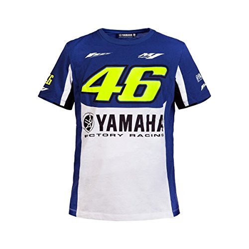Yamaha T-Shirt, Design Valentino Rossi, VR46,Yamaha Factory Racing Team, Moto GP, offiziell, 2016/2017 MF1 (Motocross-racing-ausrüstung)