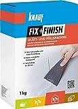 Knauf 593772 Fix+Finish Glätt-& Füllspachtel, weiß, 1 kg