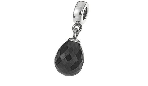 TCC/Sourcing Perle ronde en cristal et argent sterling/925 pour bracelets europ/éens Noir mystique