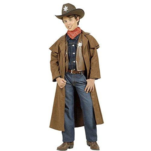 Kostüm Chaps Cowgirl Set - Sheriff Kostüm Kinder Cowboykostüm 140 cm 8-10 Jahre Cowboy Westernkostüm Wild West Sheriffkostüm Western Kopfgeldjäger Kinderkostüm Wilder Westen Revolverheld Faschingskostüm Karneval Kostüme Jungen