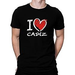 Camiseta I love Cadiz chalk style