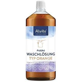 Alvito Öko Waschlösung 1,0 l mit Orangenduft - 100 Waschladungen, extrem hautverträglich und sparsam
