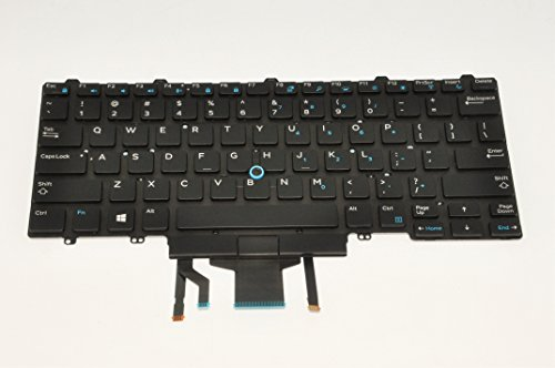 Dell D19TR - Keyboard Backlit (US/English) - Dual Pointing - Warranty: 6M - Dual-pointing-tastatur