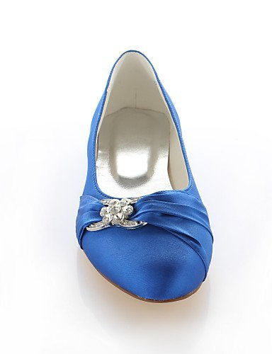 ShangYi Chaussures Femme - Mariage / Habillé / Soirée & Evénement - Rose / Violet / Rouge / Argent / Champagne / Bleu royal - Talon Plat -Bout Royal Blue