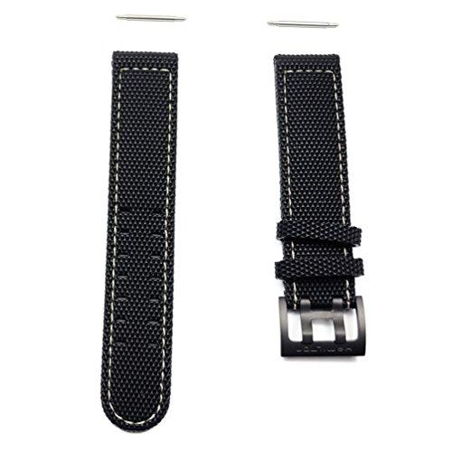 Hamilton Khaki Field - cinturino in gomma con fibbia in titanio Nero...