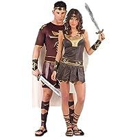 Couples & da uomo donna, in stile gladiatore, greco, romano Warrior Historical Fancy Dress Costumes-Grande