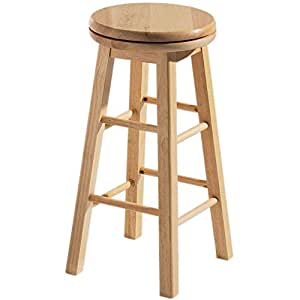 Home Discount® Breakfast Bar Stool Wooden Revolving