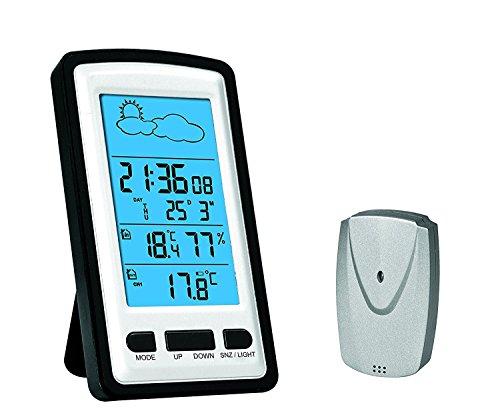 OMEGA OWS01 Wetterstation mit Außensonde und Uhr (Wettervorhersage-uhr)