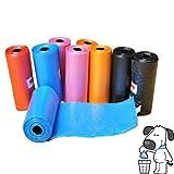 540 Sacchetti igienici in comodi rotolini per cani e gatti raccolta escrementi feci animali domestici in vari colori