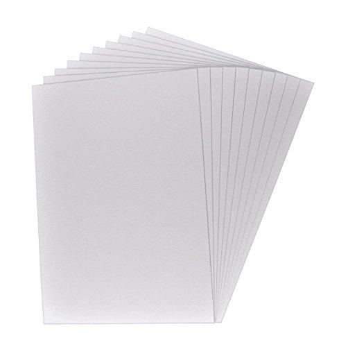 10 x Buchbinderpappe, Bastelpappe, Bastelkarton, Präsentationspappe, Dicke der Pappe: 0,1 cm / 1 mm, Farbe: grau-braun, Format DIN A4