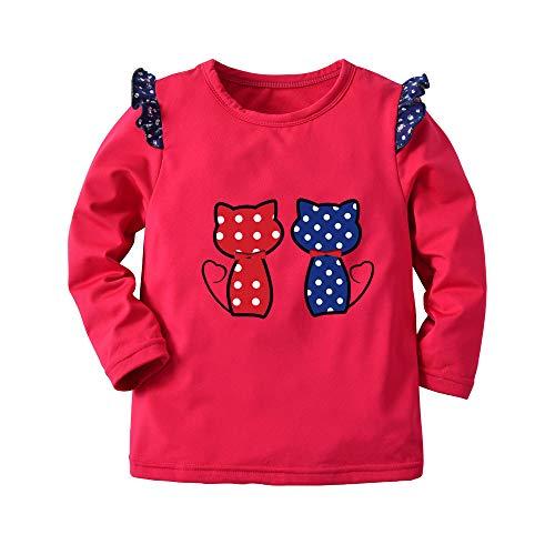 cinnamou Kinder Jungen Sweatshirt Pullover, Junge Cartoon Cat Print Warm Tops Sweatshirt Pullover Winter Kleidung