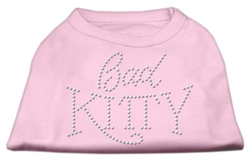 Mirage Pet Products 25,4 cm Bad Kitty Rhinestud Print Shirt für Haustiere, Pink -