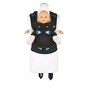 We Made Me Pao Papoose 3-in-1 Front and Back Baby Carrier (Midnight Black)
