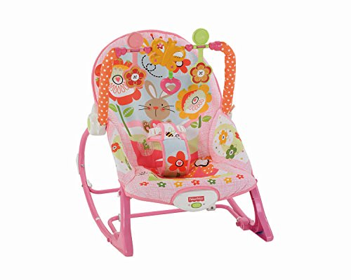 Fisher-Price Y8184 2-In-1 Sweet Pink Schaukelsitz Wippe und Sitz mit Spielzeug max. 18 kg für Babys...
