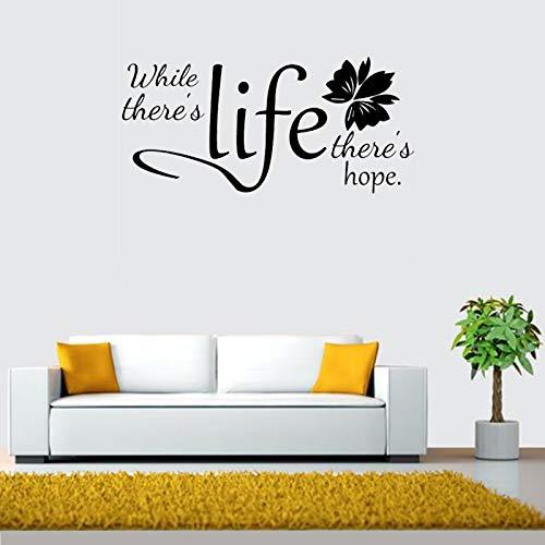 ecal Während es Leben gibt, gibt es Hoffnung Zitat Wandaufkleber Wohnzimmer Büro Tapete Vinyl Decor Wandbild 57X27CM ()