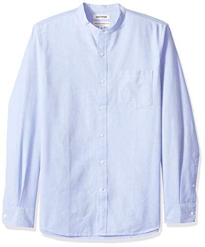 Goodthreads - Camisa Oxford manga larga cuello banda