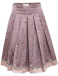 Krüger Collection Damen Trachten-Mode Trachtenrock Kettl in Rose traditionell
