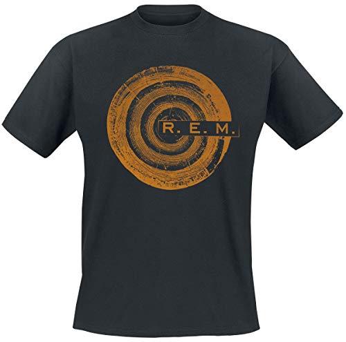 REM Woodcut Tree T-Shirt schwarz L (Rem-shirt)