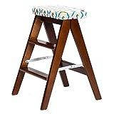 ZHDC® Klappstuhl, massivholz Kreative Einfache klappleiter hocker Küchenhocker Tragbare Hocker falten Haushaltsbank 48 × 40 × 62,5 cm Fauler Stuhl ( Farbe : #7 )