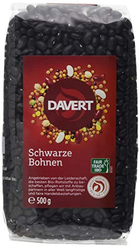 Davert Schwarze Bohnen, 4er Pack (4 x 500 g)
