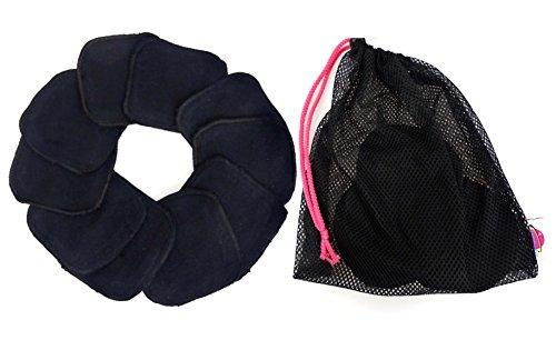 Abschminkpads Black (schwarz) Super Soft - 5 Paar, 10Stück + Wäschenetz, Kosmetikpads, Cleaningpads