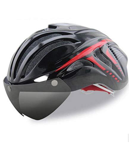 Y-YT Casco de Bicicleta Gafas Bicicleta Todo Terreno BTT del Montar a Caballo Casco Transpirable Ultraligero protección Casco 50-60 cm