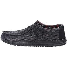 Dude Shoes Hombres Wally Sox Jet Negro