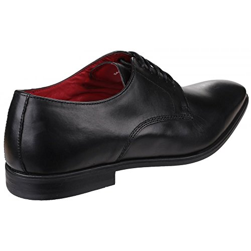 Base London George, Chaussures Lacées Homme Noir