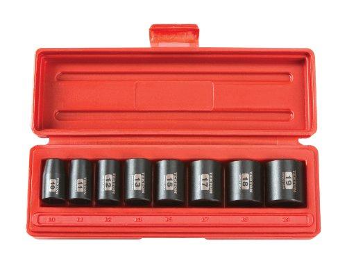Preisvergleich Produktbild TEKTON 4795 3 / 8 Zoll Innensechskant-Steckschlüssel-Satz für Schlagschrauber,  extra kurz,  10-19 mm