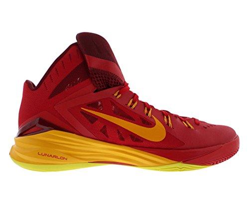 Nike Herren Hyperdunk 2014 Basketballschuhe University Red/Team Red/Sonic Yellow/Gold 676
